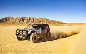 Картинка песок, небо, горы, Ford, 2019, Bronco R Race Prototype