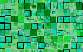 Картинка абстракция, зеленый, фон, черный, текстура, геометрия