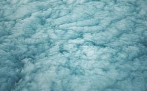 Картинка небо, облака, высота, вид сверху, пористые