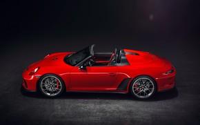 Картинка 911, Porsche, вид сбоку, 2018, Speedster, Concept II