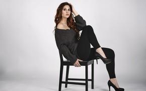 Картинка девушка, поза, модель, стул, Elena, фигурка