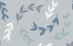 Картинка серый, фон, текстура, background, pattern, Wallpaper, Leaves