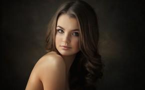 Картинка взгляд, девушка, портрет, плечи, Kate, Dennis Drozhzhin, Денис Дрожжин
