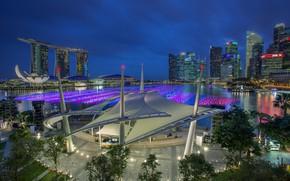 Картинка здание, вечер, Сингапур