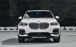 Картинка вид спереди, 2018, BMW X5, кроссовер, XDrive40i