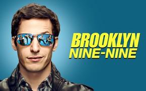 Картинка улыбка, очки, сериал, Andy Samberg, Brooklyn Nine Nine, Энди Сэмберг, Бруклин 9-9