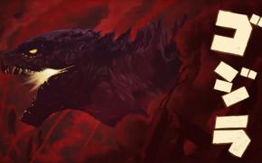 Картинка Рисунок, Огонь, Монстр, Ящер, Разрушения, Годзилла, Арт, Godzilla, Illustration, Kaiju, Creatures, Met Mangindaan, by Met ...