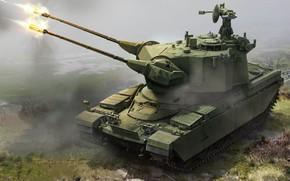 Обои боевая машина, ЗСУ, ПВО, Зенитная самоходная установка, Marksman