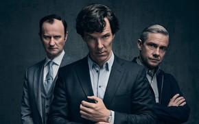 Картинка Шерлок Холмс, Мартин Фриман, Бенедикт Камбербэтч, Sherlock, Марк Гэтисс, Майкрофт Холмс, Sherlock BBC, Sherlock Holmes, …