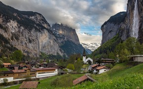 Картинка горы, Switzerland, швейцария, Lauterbrunnen