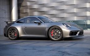 Картинка 911, Porsche, Машина, Серый, Car, Auto, Render, Porsche 911, Рендеринг, Transport & Vehicles, by Russ …