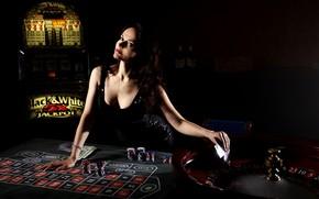 Картинка карты, девушка, казино