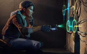 Картинка девушка, комната, лазер, Half-Life, Half-Life: Alyx