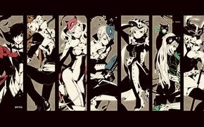 Картинка коллаж, персонажи, Persona 5, Персона 5