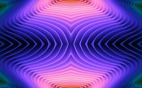 Картинка волны, цвета, тень
