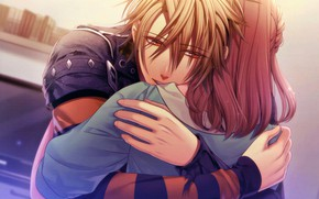 Картинка объятия, Amnesia, Амнезия, Heroine, Toma, Hanamura Mai, парень с девушкой
