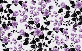 Картинка цветы, фон, узор, бутоны, background, pattern, floral