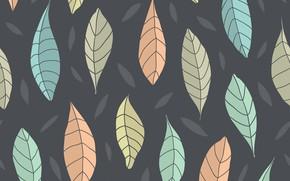 Картинка осень, листья, фон, узор, бесшовный