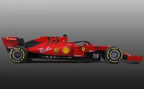 Картинка Ferrari, боллид, автоспорт, 2019