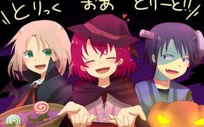 Картинка дети, девочка, мальчики, хеллоуин, Рассвет Йоны, Akatsuki no Yona, Йона, Yona of the Dawn