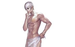 Картинка полотенце, парень, голый, Sengoku Basara, Эпоха Смут