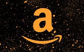 Картинка фон, лого, logo, black, orange, fon, amazon, амазон