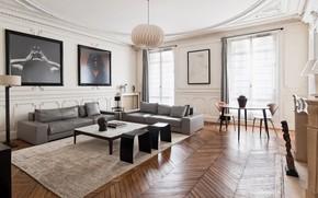 Картинка дизайн, стиль, интерьер, гостиная, home in Paris