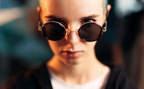 Картинка взгляд, девушка, лицо, портрет, очки, Иван Лосев