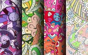 Картинка абстракция, фон, узор, colorful, орнамент, patterns, seamless, пейсли