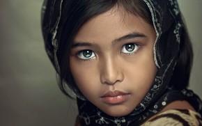 Картинка взгляд, ребенок, портрет, девочка