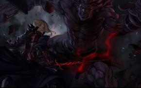 Картинка fate/stay night, peperon peperou, berserker, saber, saber alter