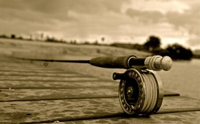Картинка Rod, Macro, Fishing, Sepia
