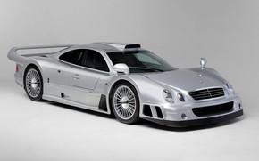 Картинка Mercedes-Benz, Колеса, Капот, GTR, Фары, Диски, CLK, 1997, Sports car, Mercedes-Benz CLK GTR AMG Coupe, …
