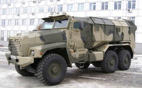 Обои Бронеавтомобиль, Армия России, Урал-63099, Тайфун-У