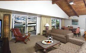 Картинка комната, интерьер, гостиная, столовая