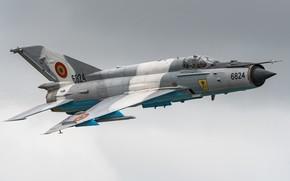 Картинка Истребитель, Пилот, МиГ-21, ОКБ Микояна и Гуревича, ВВС Румынии