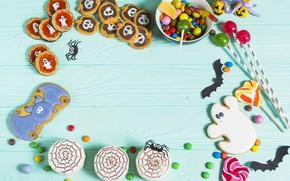 Картинка фон, печенье, Праздник, выпечка, карамель, Леденцы