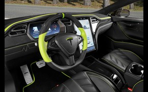 Картинка салон, Tesla, Mansory, Model S, 2016