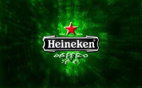 Картинка фон, green, звезда, пиво, лого, зелёный, logo, star, heineken, fon, beer, хайникен