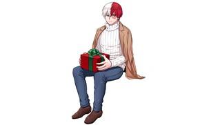 Картинка подарок, парень, Моя геройская академия, Todoroki Shouto, My Hero Academia, Boku No Hero Academia, Тодороки …