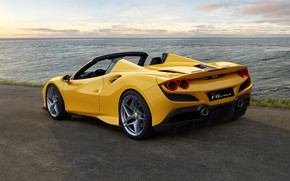 Картинка вода, фонари, Ferrari, спорткар, диски, Spider, Ferrari F8