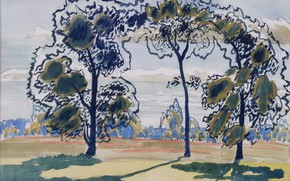 Картинка Charles Ephraim Burchfield, Untitled, 1916 01