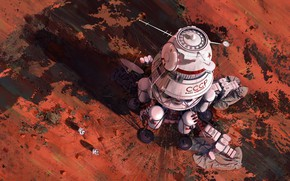 Картинка Будущее, СССР, Марс, Арт