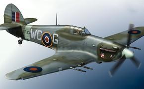 Картинка Великобритания, Royal Air Force, Hurricane Mk.IIC, Hawker Hurricane Mk.IIc, Поршневой истребитель