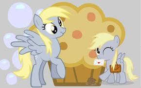 Картинка пони, конверт, кекс, My Little Pony, лошадки
