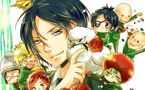 Картинка розы, букет, Рокудо Мукуро, Katekyo Hitman REBORN, Учитель мафиози Реборн