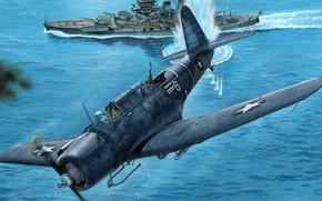 Картинка Vought, Vindicator, американский палубный пикирующий бомбардировщик, SB2U-3