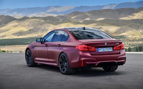 Картинка BMW, сзади, сбоку, 2017, M5, F90, M5 First Edition