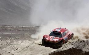 Картинка песок, красный, пустыня, пыль, rally, ралли, Buggy, Fast&Speed