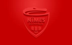 Картинка wallpaper, sport, logo, football, Ligue 1, Nimes Olympique